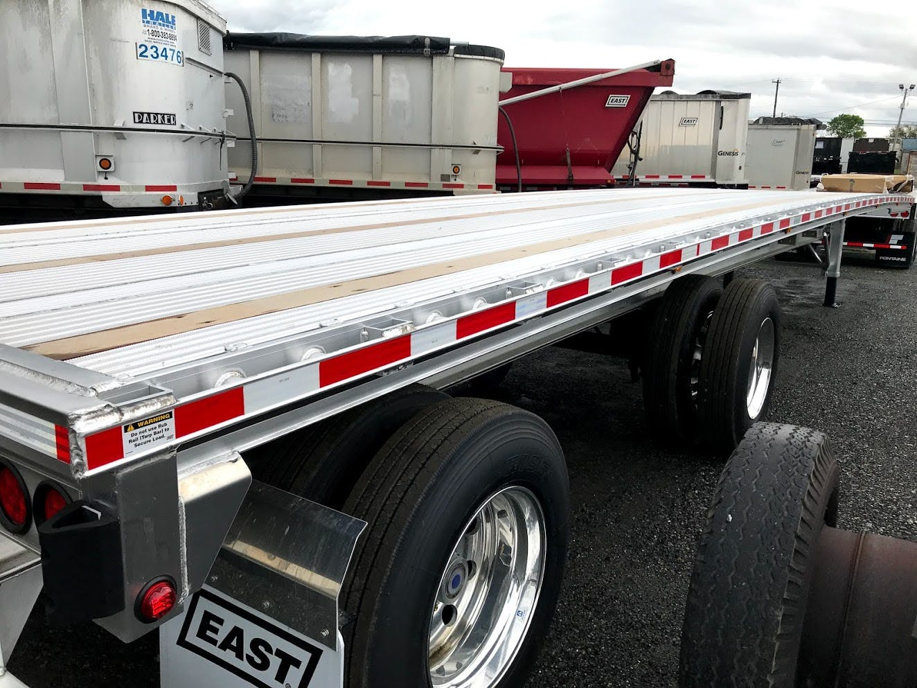 2020 EAST ALUMINUM FLATBED TRAILER #643526