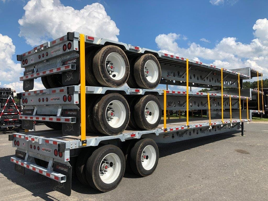 2020 MANAC STEEL SINGLE DROP FLATBED TRAILER #641999